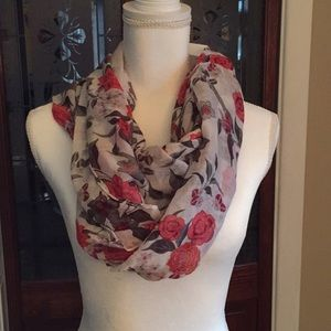 Two scarfs bundle red and black roses very pretty
